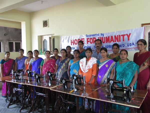 Hope for Humanity Sewing Machines Distribution